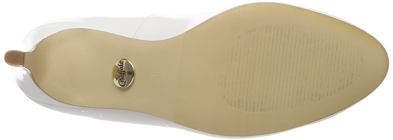 Buffalo Damen C564a-1 P1239k (Weiß) Box PU Pumps Weiß (Weiß) P1239k 100af4