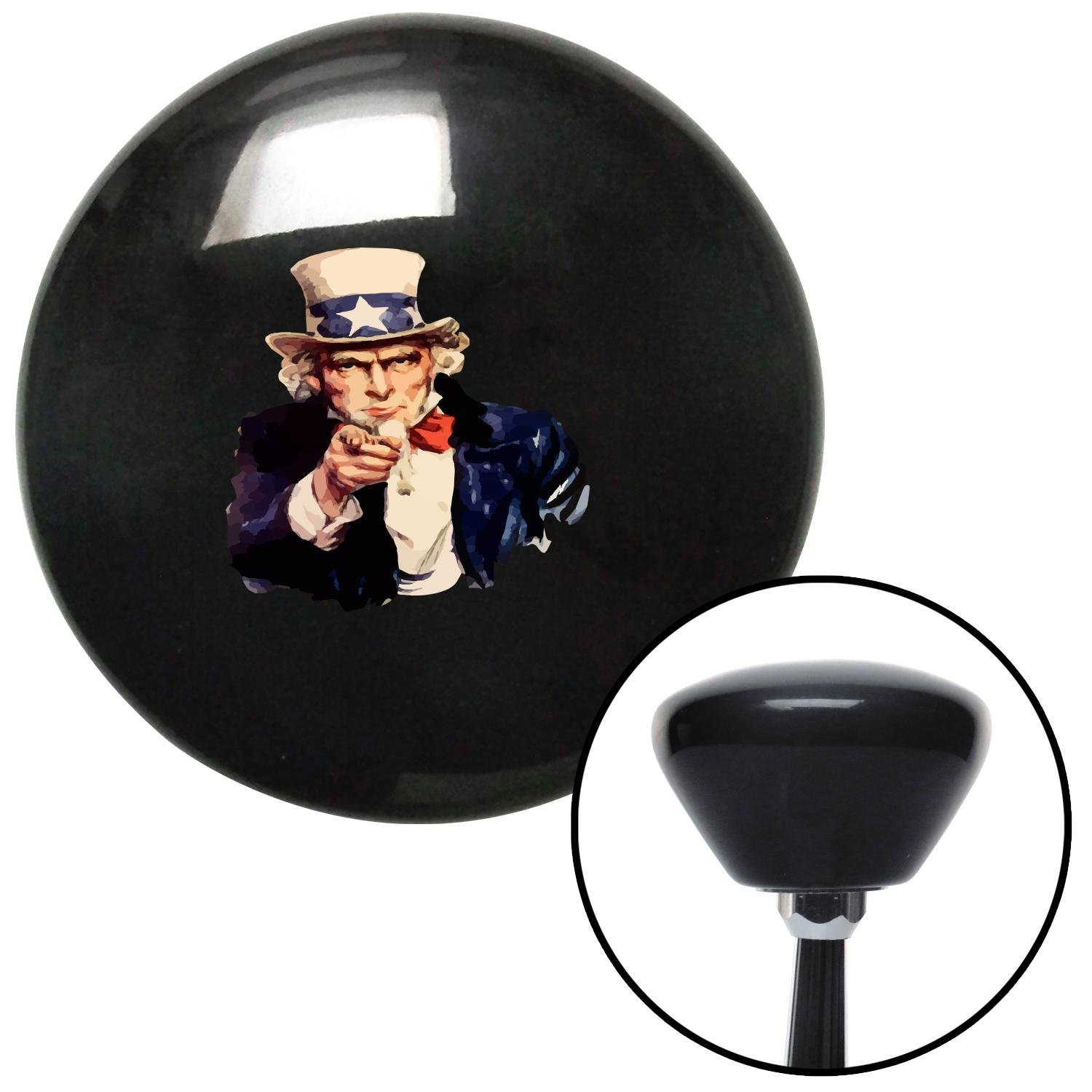 American Shifter 147772 Black Retro Shift Knob with M16 x 1.5 Insert Uncle Sam