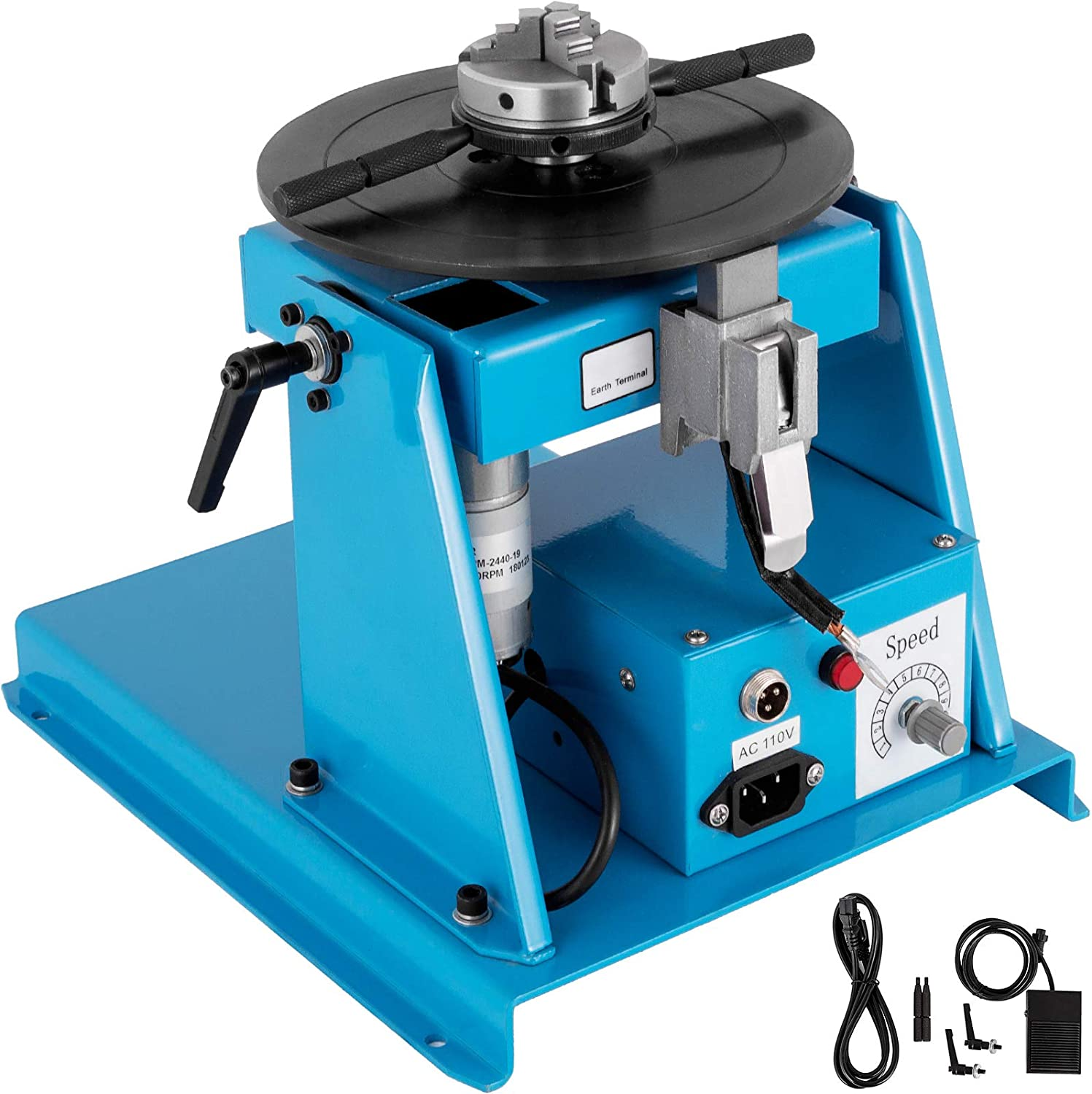 110V 60HZ 2-10 r//min Rotary Welding Positioner Turntable Table for Pipe Welding