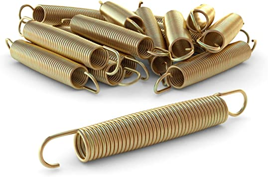 gold verzinkt 6 x Zugfeder