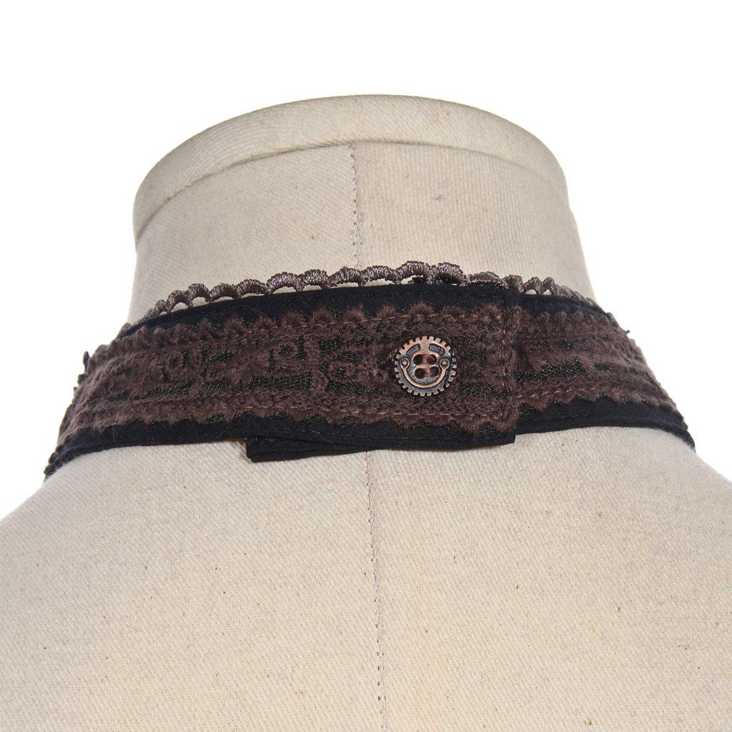 HappyStory Jabot Streampunk Gothic Necktie Collar