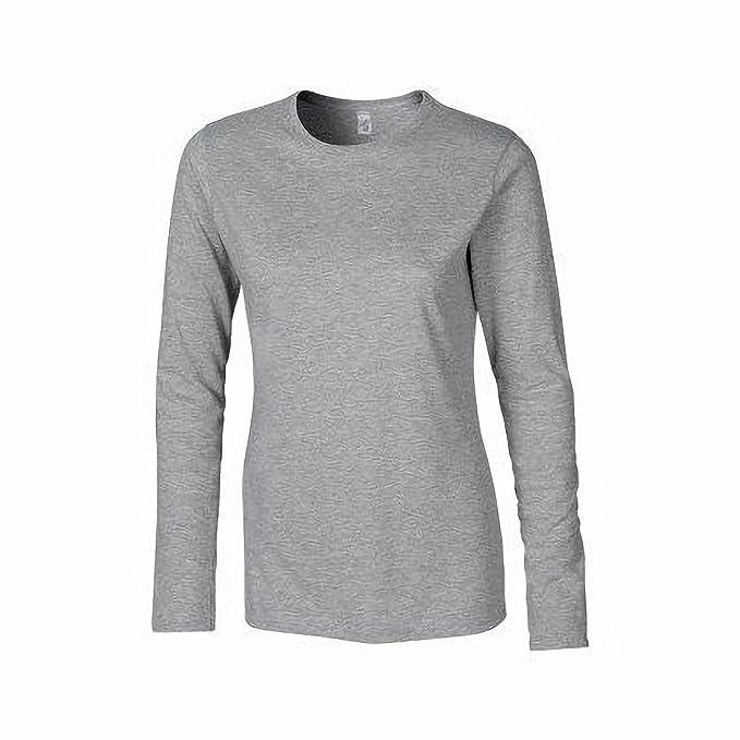 Gildan Damen Langarm T-Shirt / Sweatshirt (S) (Grau) S,