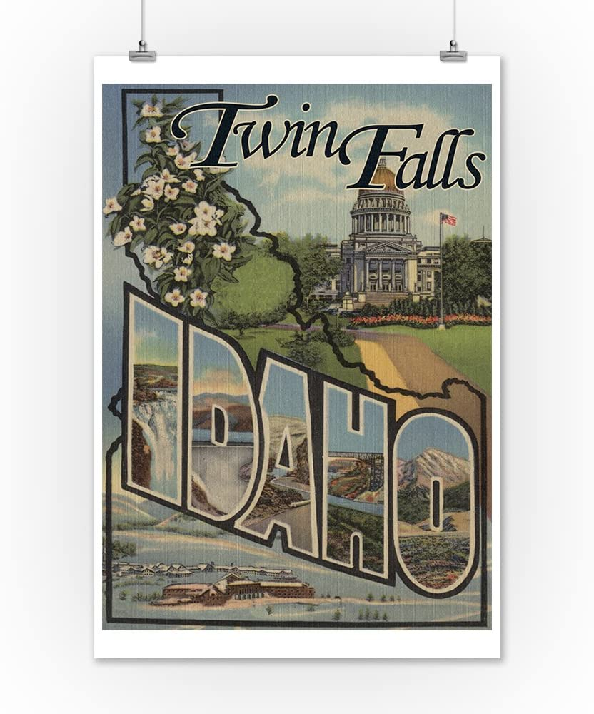 24x36 SIGNED Print Master Art Print - Wall Decor Poster Twin Falls Large Letter Scenes 7890 Idaho