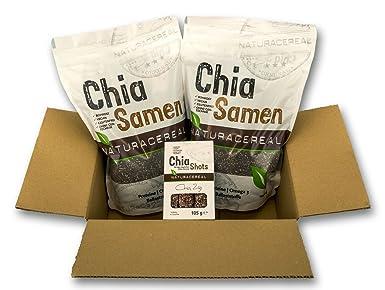 NATURACEREAL Semillas de Chia Calidad Premium 25 KG - | Vegano | Libre de Gluten | Sin ingenería genética |: Amazon.es: Alimentación y bebidas