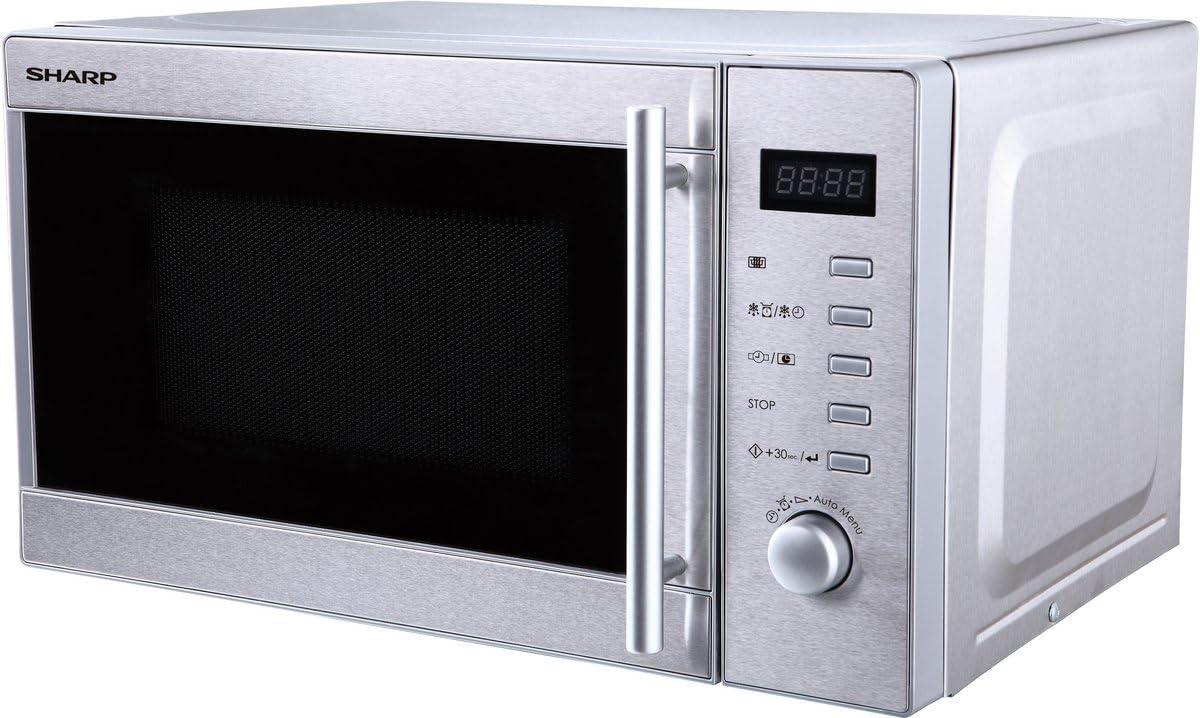 Sharp R20STW Microondas 20L, Control Mecánico y Táctil, 800W, 800 ...