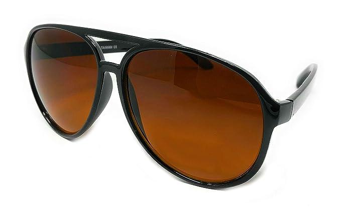 Amazon.com: Gafas de sol de plástico para adultos., Negro ...