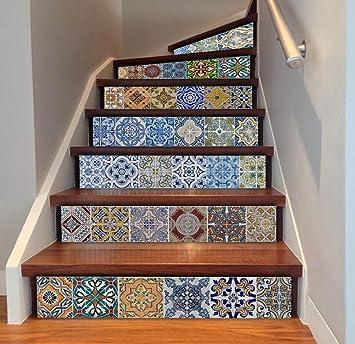 Qu0026D Treppe Wandaufkleber Dekorative Wasserdicht DIY Selbstklebend  Abziehbild Entfernbar Wandgemälde Zum Zuhause Dekor