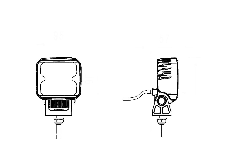 LED Anbau// B/ügel HELLA 1GA 996 284-001 Arbeitsscheinwerfer Q90 compact f/ür Nahfeldausleuchtung// Bodenausleuchtung 12V//24V