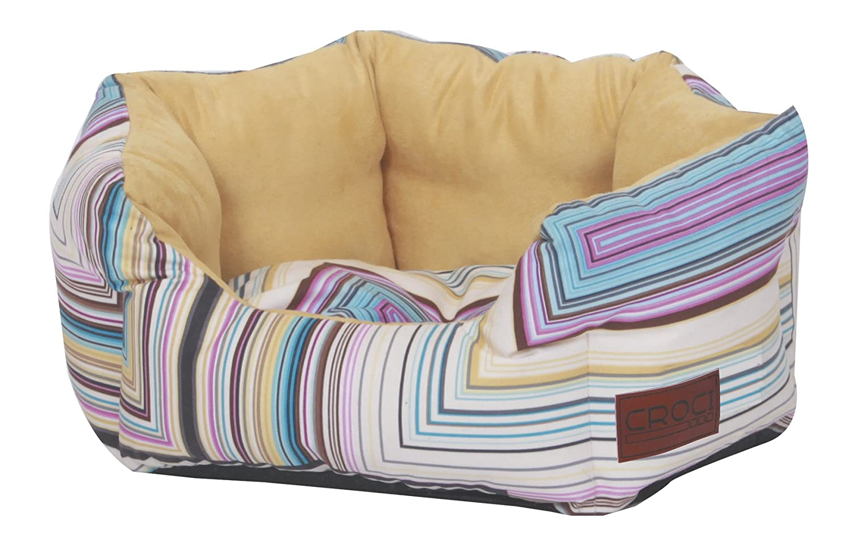 CROCI Pet Bed Modern Lines, Oval, 75 x 60 x 20 cm