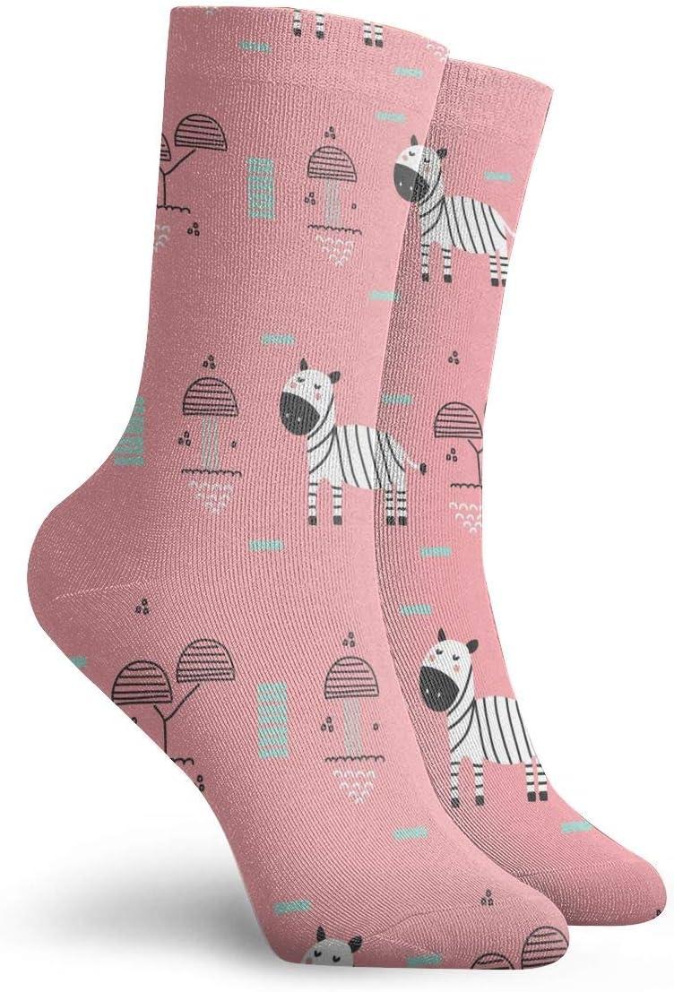 PengMin Baby Zebra Casual Cotton Socks Unisex Sports Socks.