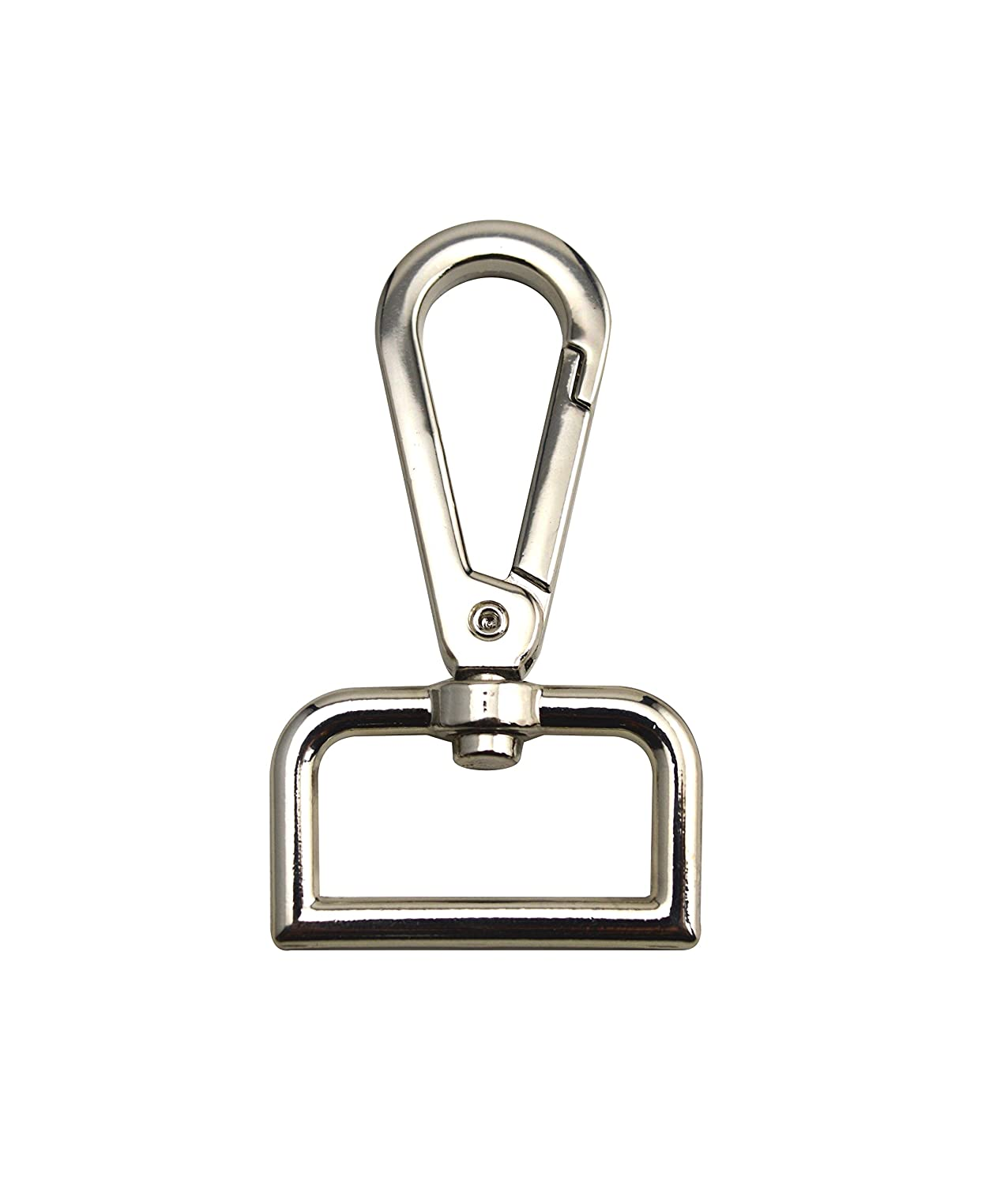 Wuuycoky Silvery 0.8 Inner Diameter D Ring Medium Surface Plate Buckle Lobster Clasps Swivel Snap Hooks Pack of 10
