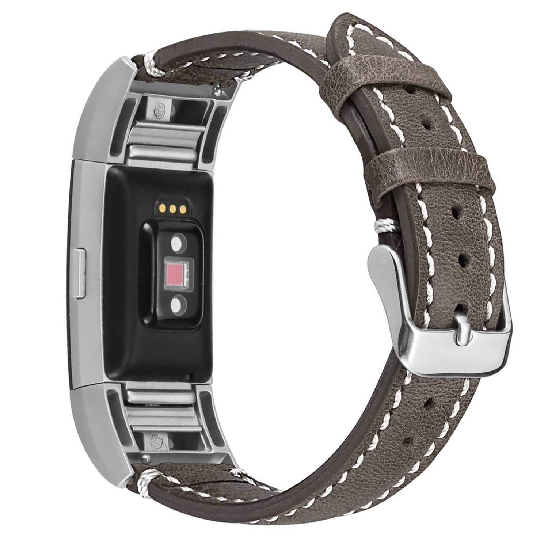 【在庫一掃】 For Fitbit Charge Line 2レザーバンド、eseekgo純正レザーストラップfor Fitbit Charge 2 Smart Brown White Watchアクセサリー交換用リストバンド(トラッカーなし) LB-FBCH2-YLBLK B075L78PXQ Brown Band with White Line Brown Band with White Line, チュノアウェディング:53b7bdc4 --- beyonddefeat.com