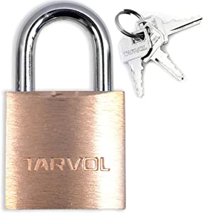 Mini Luggage Lock Set (HEAVY DUTY BRASS) - Set Includes 3 Small Keys - Perfect Padlock for Securing Your Suitcase, Jewelry Boxes, Gym Locker, Tote, Mini Fridge, Cabinet, and More!