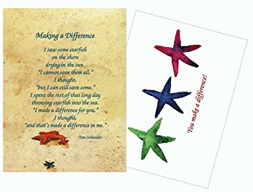 image about Starfish Story Printable referred to as Starfish Tale Poem Generating a Distinction Inspirational/Prayer Greeting Playing cards - 25 Laminated Playing cards