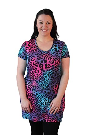 1d0466a833004 Girl Talk Clothing Plus Size Animal Leopard Print Tunic Top at Amazon  Women s Clothing store