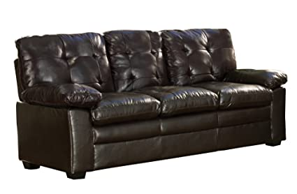Amazoncom Homelegance Charley 80 Faux Leather Upholstered Sofa