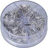 fafada 1900tlg 0,5–2,5mm, terminales Cable Guantes Pin endklemme Surtido alambre cobre Crimp conector aislado Copper