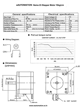 on nema 23 stepper motor wiring diagram