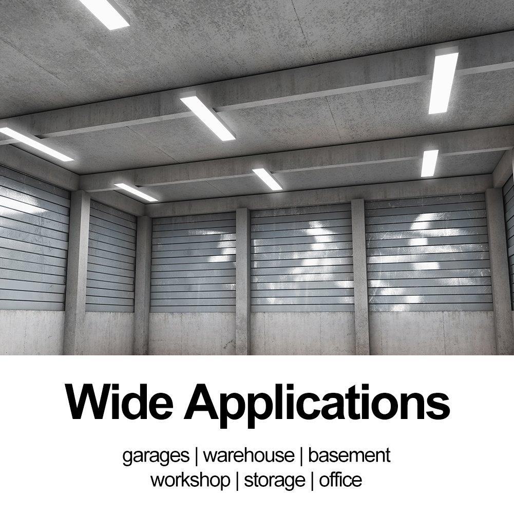 Linkable 4000LM 40W 4FT LED Shop Lights for garage 5000K Led Wraparound Flushmount Ceiling Light Fixture for Basement Workshop Office (4 Pack) by juweixin (Image #5)