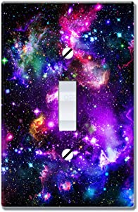 WIRESTER Single Gang Toggle Light Switch Plate/Wall Plate Cover - Purple Marvel Nebula Galaxy