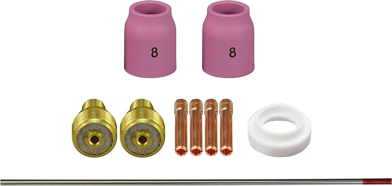 WIG Gaslinse Spannzangen 2 Prozentsatz Thoriated WT20 und WIG Schwei/ßbrenner WP-9 WP-20 WP-25 11St