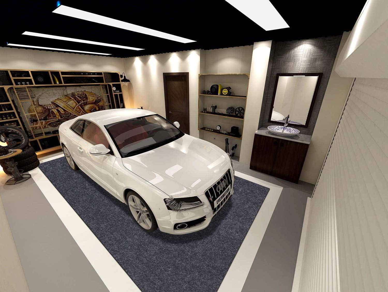 Easy to Clean 21.3 ft x 7.5 ft Indoor Parking Mat-Absorbent Felt and Leak-Resistant Anti-Slip Backing Sensko Garage Floor Mat,Shearable