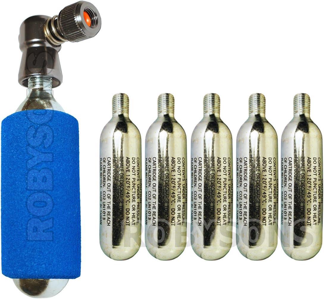 KRONYO Inflador de CO2 con 5 Cartuchos de CO2 – rápido y fácil ...
