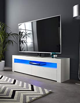 Mmt Brg1550 White Tv Stand Cabinet For 40 42 50 55 60 65 Inch 4k