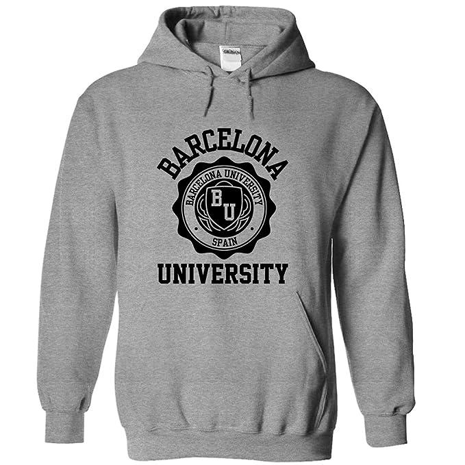 Barcelona University Hoodie GreyBlack Medium: Amazon.co