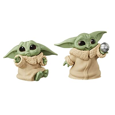 """Star Wars The Bounty Collection The Child Collectible Toys 2.2-Inch The Mandalorian """"Baby Yoda"""" Don't Leave, Ball Toy Figure 2-Pack: Toys & Games"""