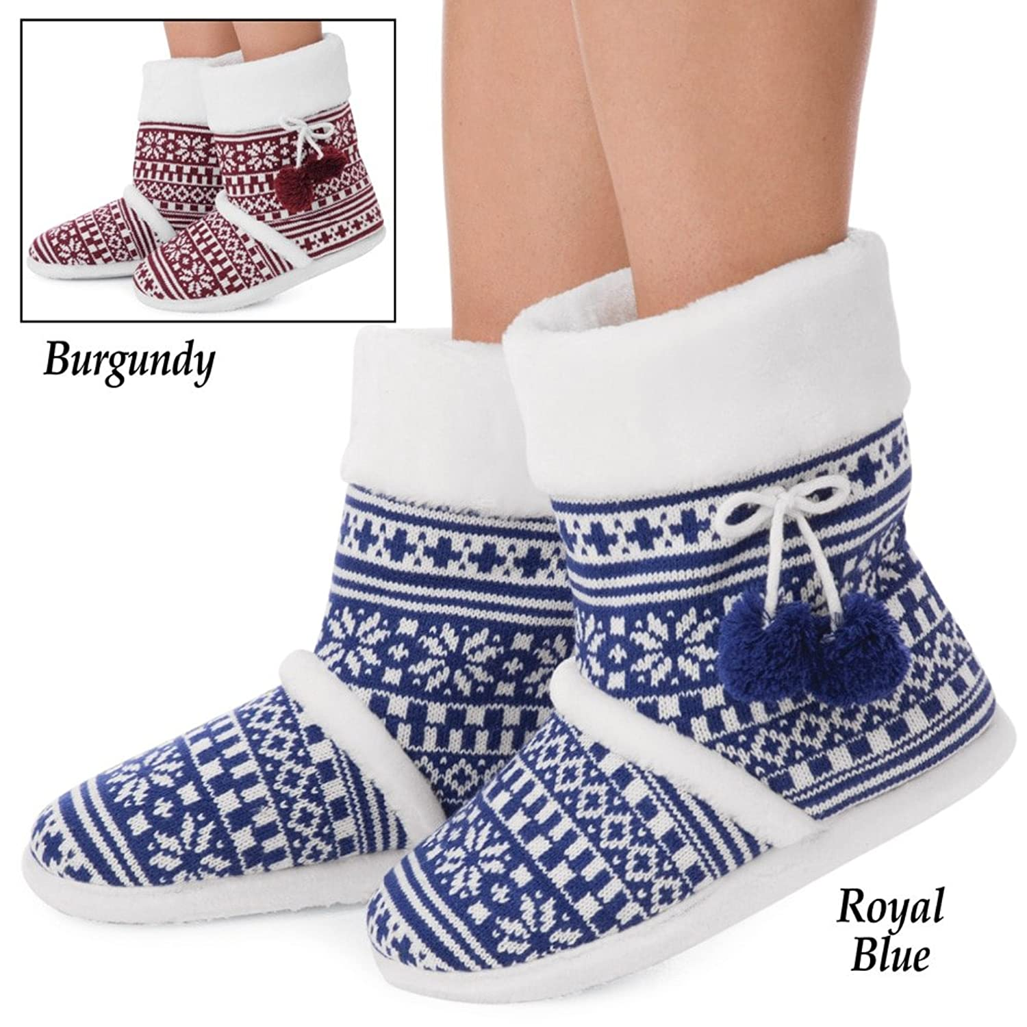 Snowflake Fleece Lined Booties