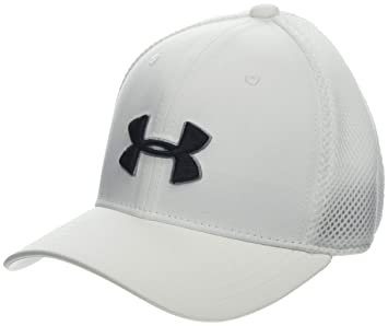 Under Armour Boys Golf Classic Mesh 2.0 Gorra, Niños, Blanco White/Black 100