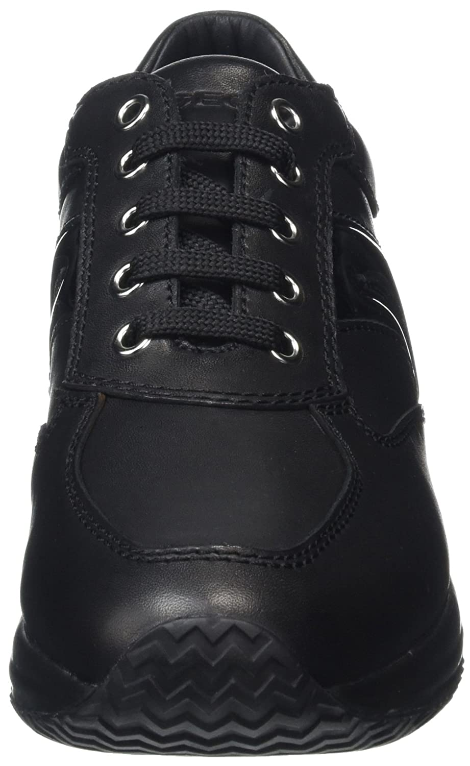 Geox Women D Happy B Smooth Leather Hi-Top Sneakers