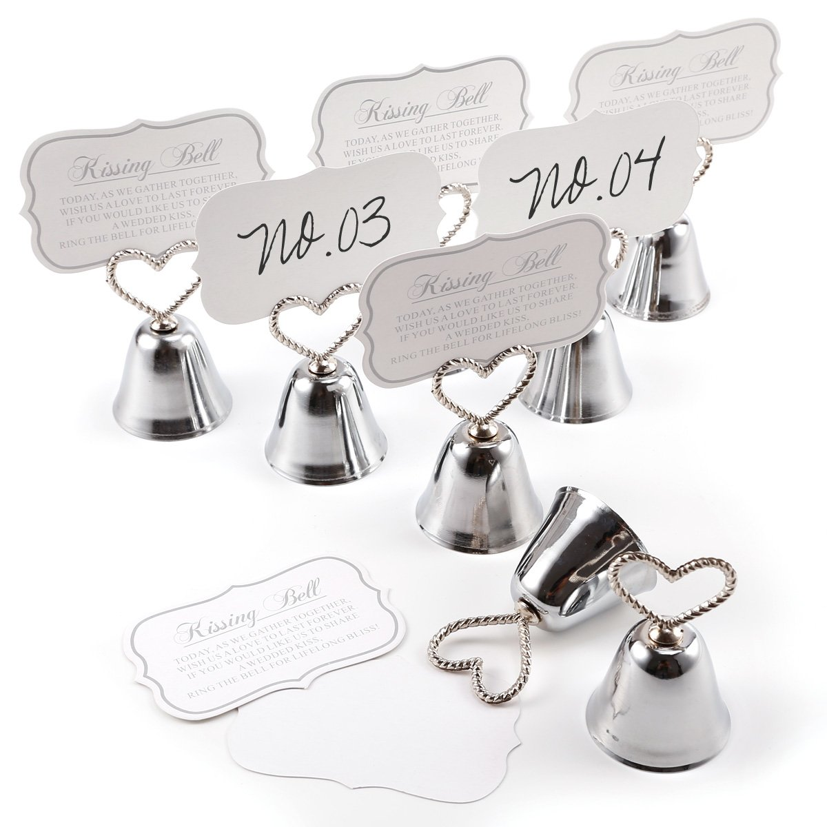 Surepromise 8 Place Card Love Holders Wedding Cafes Table Photo Memo Number Name Clip