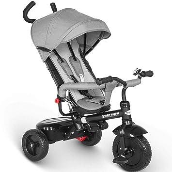 567f59a93798ba besrey Dreirad 4 in 1 Kinderdreirad Dreirad für Kinder Tricycle mit  Schubstange Sonnendach ab 1 Jahre bis 6 Jahre …