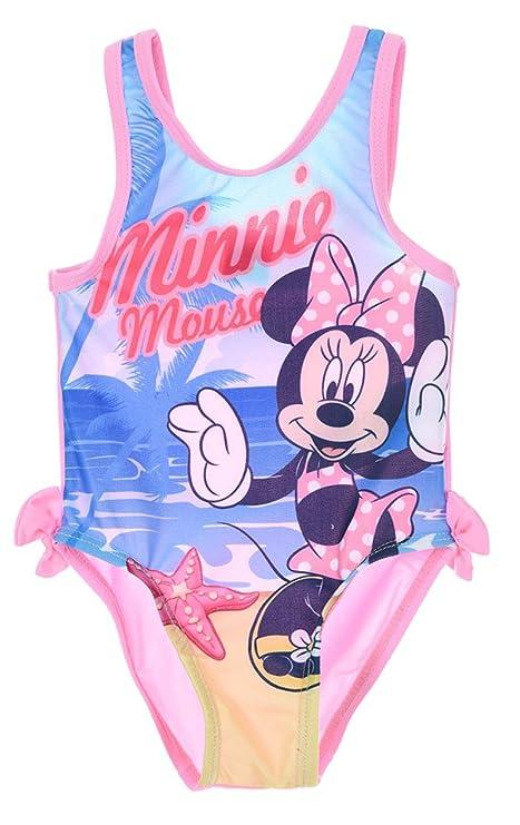 Traje de baño 1 pieza bebé niña Minnie rosa 6 A 23 meses ...