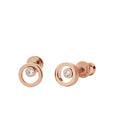 Skagen Women's Rose Gold Earrings SKJ0853791 QW3r3est2