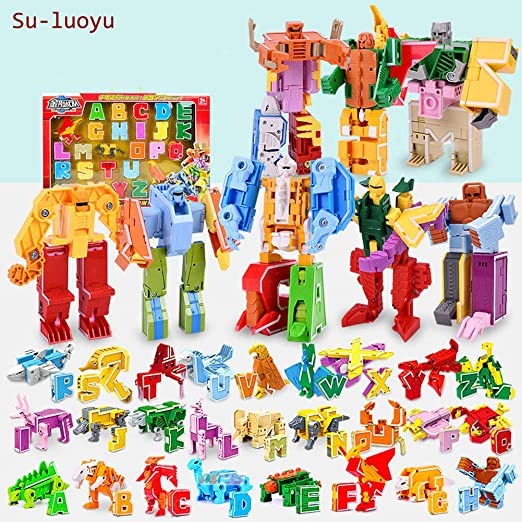 Su-luoyu Juguetes Aprendizaje para Niños 3 A 12 Años Edad Letras ...