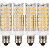 Simba Lighting LED E11 T4 Mini-Candelabra JD Light Bulb 5W 40W to 50W Halogen Replacement (4 Pack) 76SMD2835 Corn JDE11…