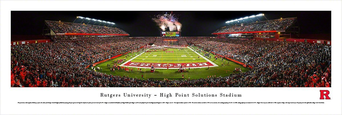 Rutgers Football - Blakeway Panoramas Unframed College Sports Posters by Blakeway Worldwide Panoramas, Inc.