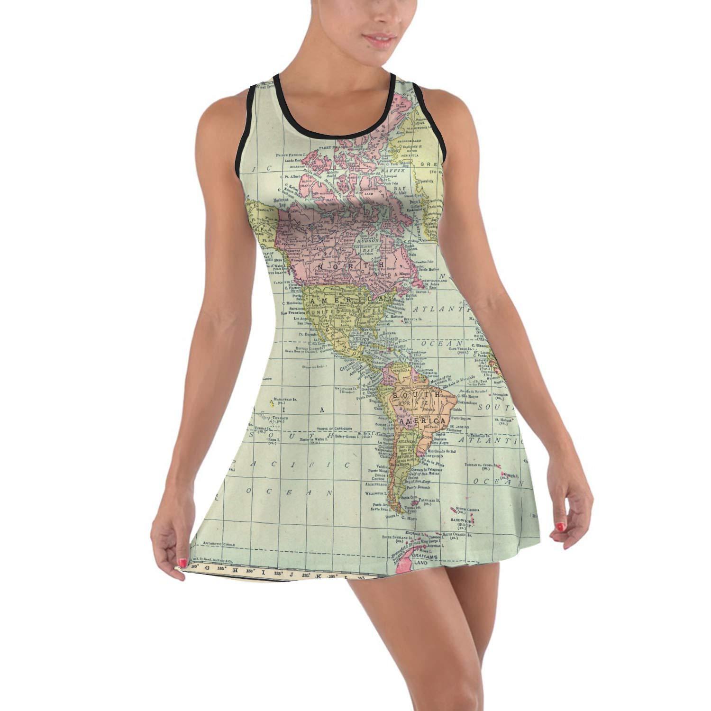 Antique World Map 1913 A-Line Skirt