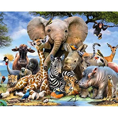 Jigsaw Puzzles for Adults 1000 Pieces Animal World-Elephant Jigsaw Puzzle for Kids Teens Toys DIY Constellation: Toys & Games