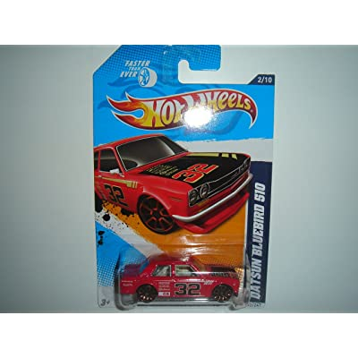 Hot Wheels Datsun Bluebird 510 Red 2012 Faster Than Ever Card 92: Toys & Games