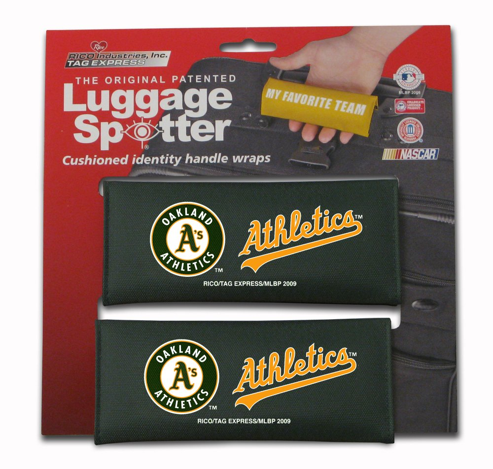 BUY ONE GET ONE FREE! OAKLAND A's Luggage Spotter Suitcase Handle Wrap Bag Tag Locator with I.D. Pocket (4-PK) by Luggage Spotter