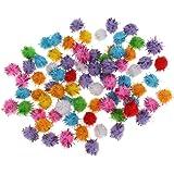 100pcs Glitzer-Pompons in verschiedenen Farben zum Basteln von Figuren, Dekorationen & Bastelarbeiten für Kinder