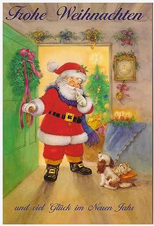 Nostalgische Weihnachtskarten Kostenlos.Weihnachts Karten Set 5 Karten Weihnachten Nostalgie X Mas
