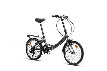 Moma Bikes First Class 2 GR Bicicleta Plegable Urbana, 6V. Sillin Confort, Unisex