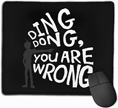 Ding Dong You Are Wrong Mouse Pad Gaming Mouse Pad Anti Slip Rubber Base With Stitched Edge Computer Pc Mousepad For Home Office Office Products