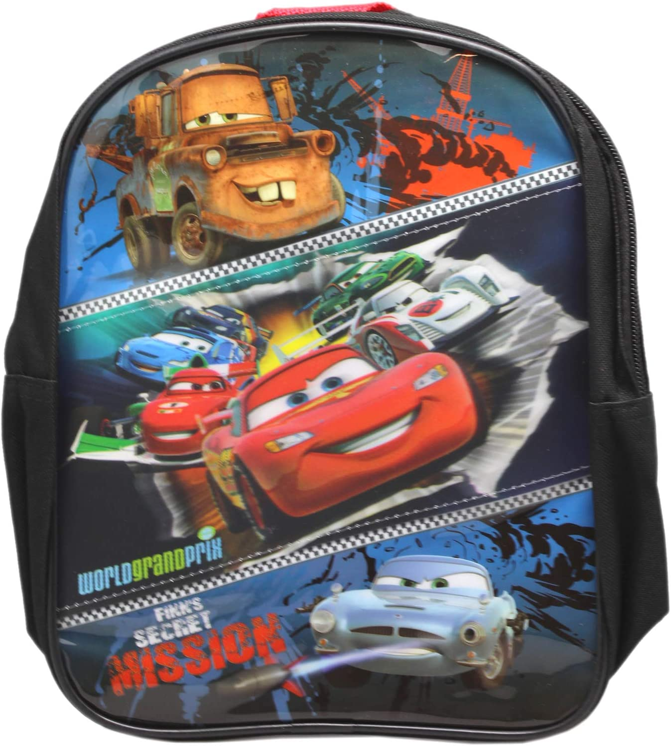 Disney Pixars CarsFinns Secret Mission Black Mini Toddler Backpack 10in