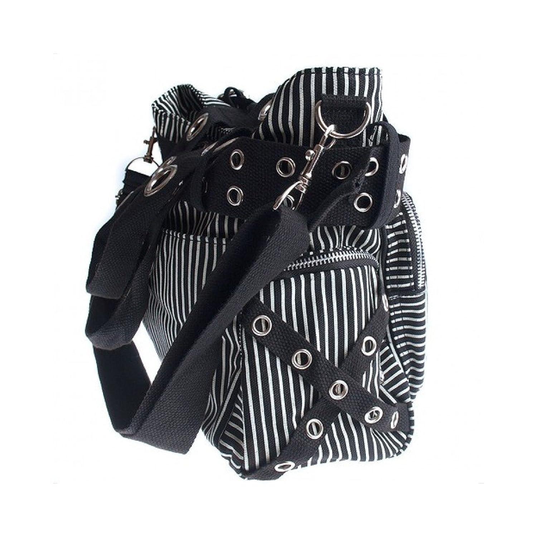 Jawbreaker Bags Black White Stripe Handbag Alternative Design Goth Striped Bag